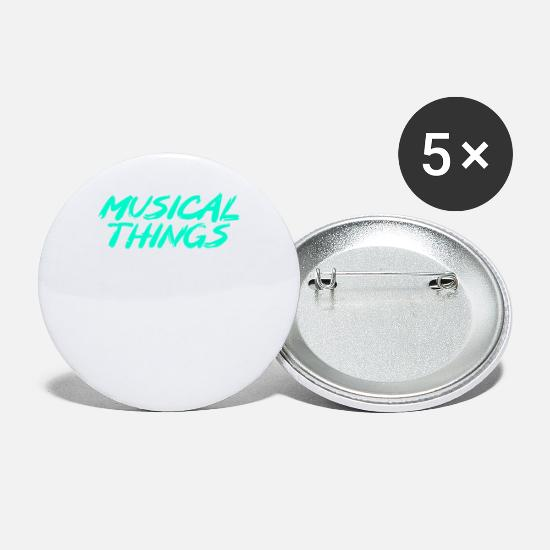 Guitar Player Buttons - musical things - Small Buttons white
