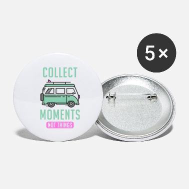 Globe Travel Bus Collect Moments not Things - Small Buttons