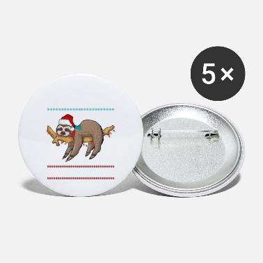 Trend Animal Funny sloth trend animal Christmas - Small Buttons