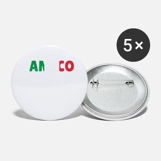 Gift Idea Buttons - Amico friend Italy Gift - Small Buttons white