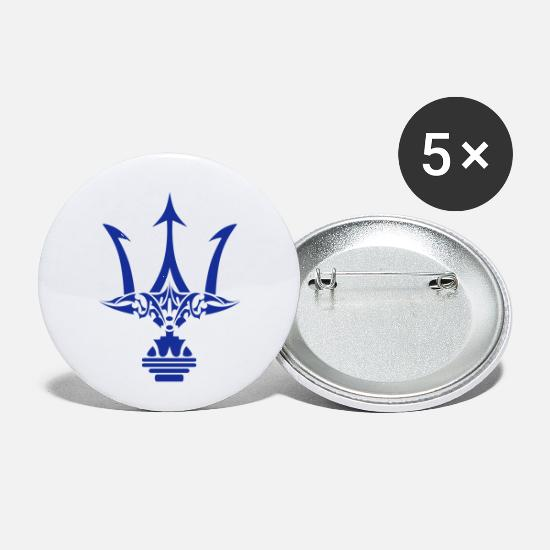 Poseidon Trident Tribal Tattoo Buttons Small 1 5 Pack White