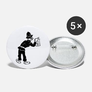 Arrest Warrant Policeman with warrant - Small Buttons