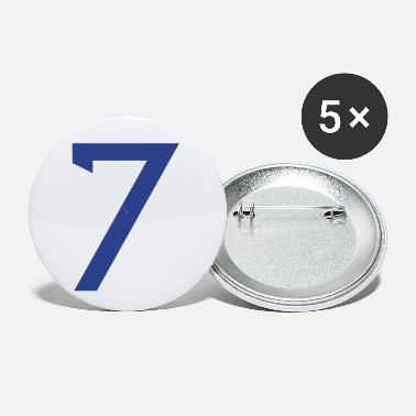 Baseball Player ★Cool Number Seven 7-Best Uniform Number-7★ - Small Buttons