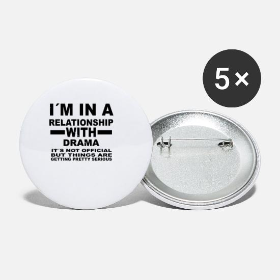 Love Buttons - relationship with DRAMA - Small Buttons white