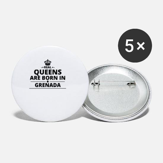 Love Buttons - geschenk love queens are born GRENADA - Small Buttons white