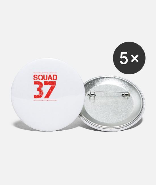 Training Buttons & Pins - Team Verein Squad Party Member Crew jga malle 37 - Small Buttons white