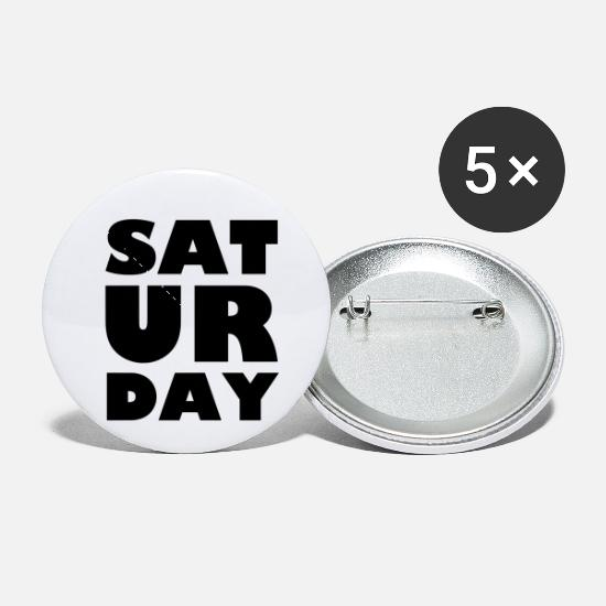 Days Of The Week Buttons - Saturday - Small Buttons white
