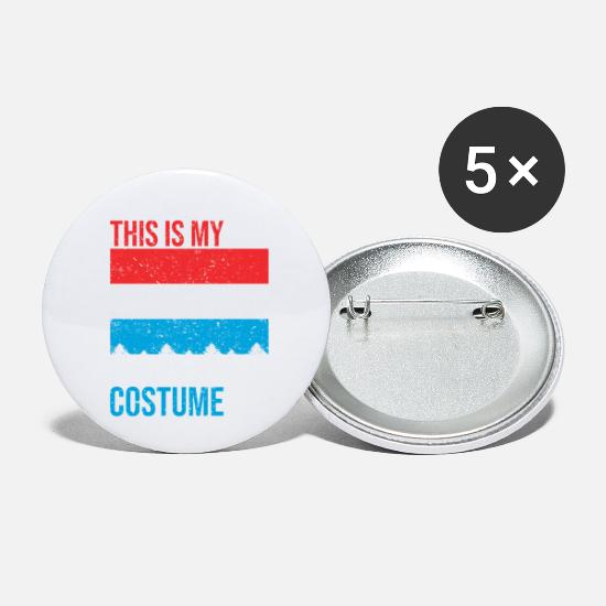 Luxembourg Buttons - This is my Luxembourg Costume Halloween T-Shirt - Small Buttons white