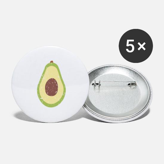 Avocado Buttons - Vintage Avocado Costume Halloween Vegan T-Shirt - Small Buttons white