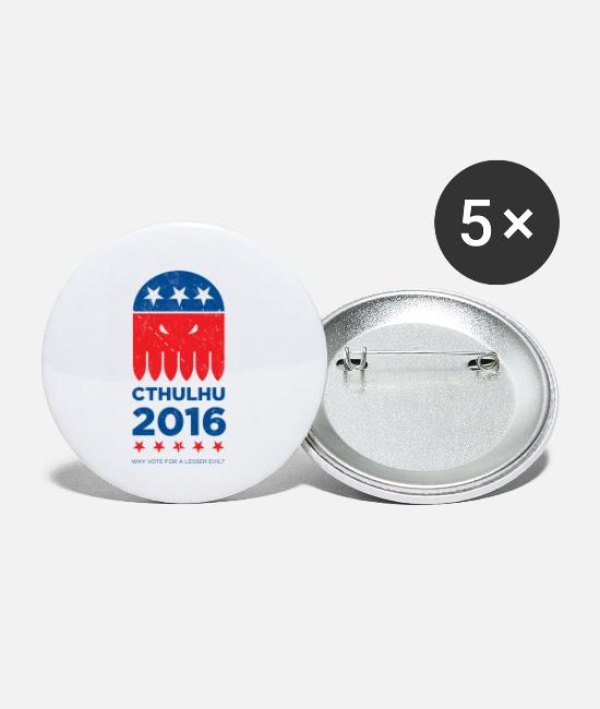 Distressed Buttons & Pins - Vote CTHULHU 2016 - Small Buttons white