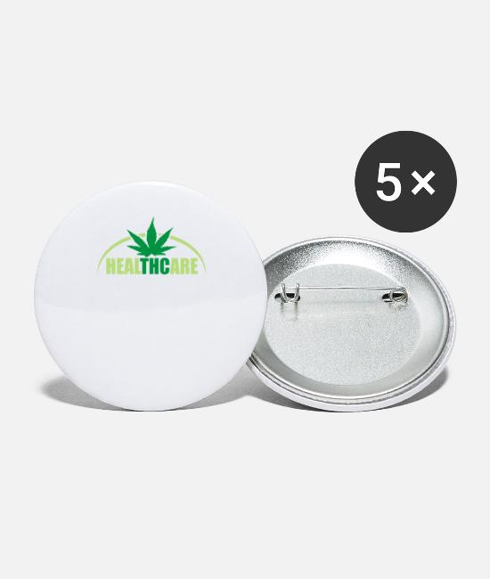 Rasta Buttons & Pins - Rasta Health - Small Buttons white