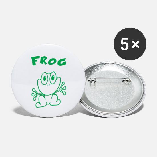 Movie Buttons - FROG - Small Buttons white
