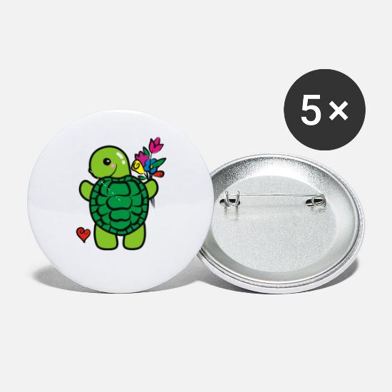 Turtle Buttons - Love turtle - Small Buttons white