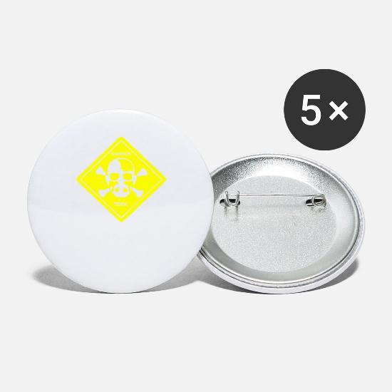 Game Buttons - WALTER WHITE DANGER TOXIC BREAKING BAD INSPIRED TE - Small Buttons white
