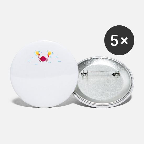 Game Buttons - Carefree Crab - Small Buttons white