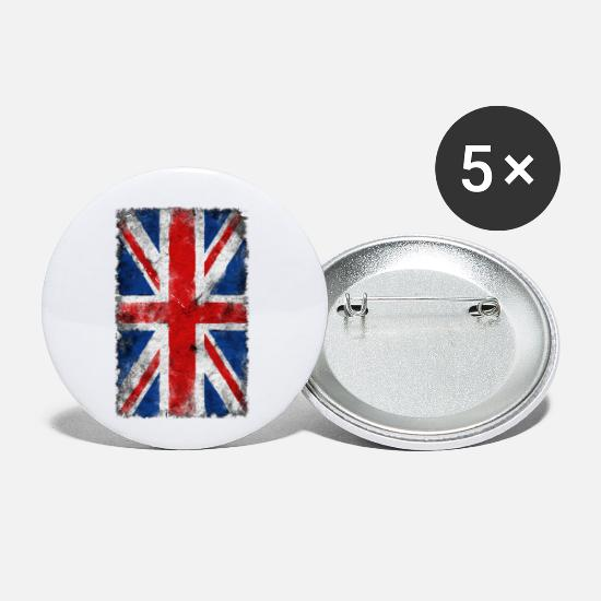 Union Buttons - Grunge Union Jack - Small Buttons white