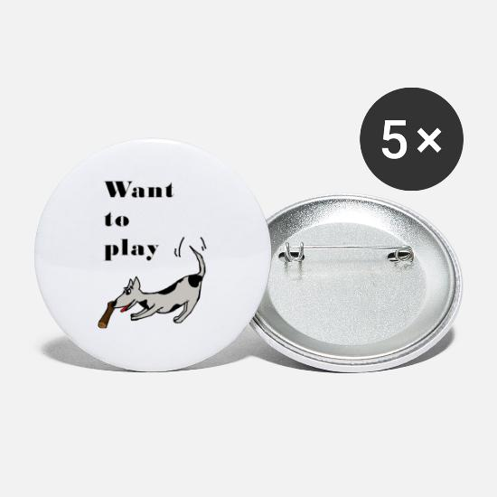 Gift Idea Buttons - dog - Small Buttons white
