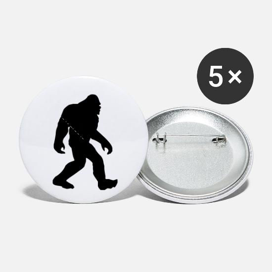 Big Buttons - Gone Squatchin black - Small Buttons white