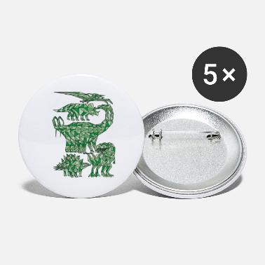 Geometric Dinosaurs - Small Buttons