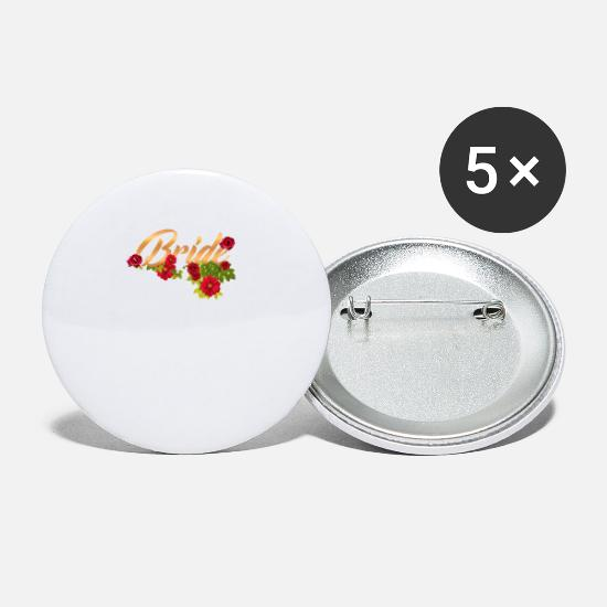 Bride Buttons - bride flower team bride - Small Buttons white