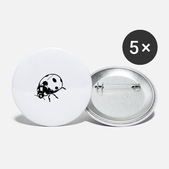 Art Buttons - Ladybug - Small Buttons white