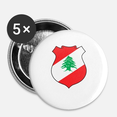 Border Line National Coat Of Arms Of Lebanon - Small Buttons