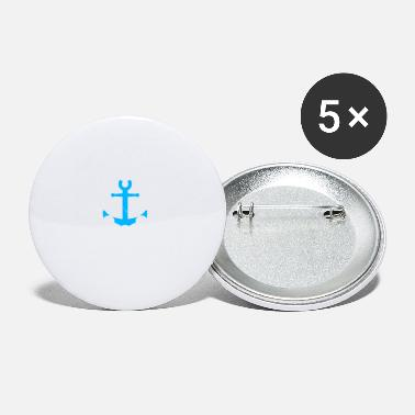 I Love Sailing Anchor blue - I love sailing and the sea - Small Buttons