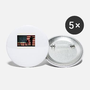 Us Military US Military Stand For The Flag Kneel For The Cross - Small Buttons