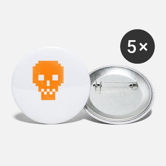 Yes We Can Buttons - Dead Pixels Orange T shirt Cool Halloween GIft - Small Buttons white