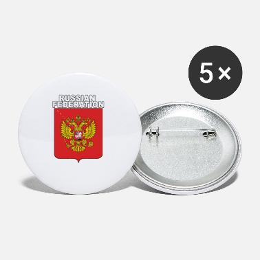 Expat Russia National Crest Russian Expat Pride - Small Buttons