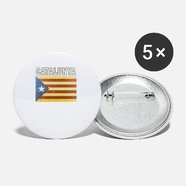 Catalan Designs Catalunya Flag Independent Catalonia Distressed - Small Buttons