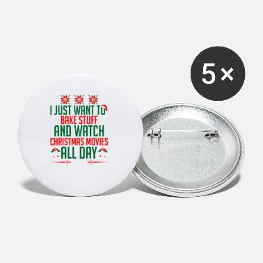 Hallmark Christmas Movies Just Want Bake Stuff Watch Christmas Movie All Day - Small Buttons