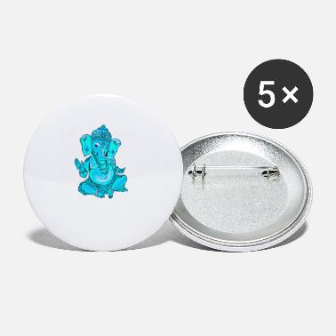 India Om ganesha india God Yoga Namaste chakra om meditatio - Small Buttons