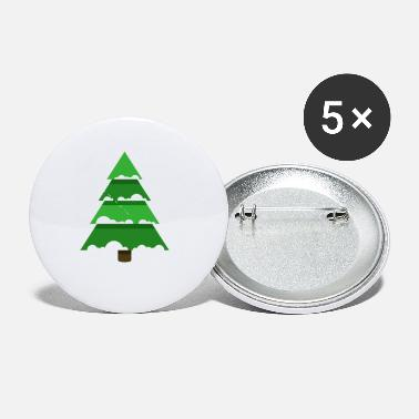 Spruce Christmas tree spruce New Year vector image fir - Small Buttons