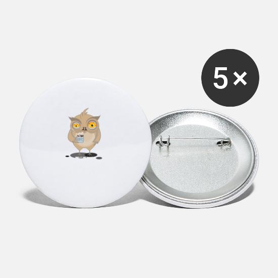 Bird Buttons - The Early Bird - Small Buttons white