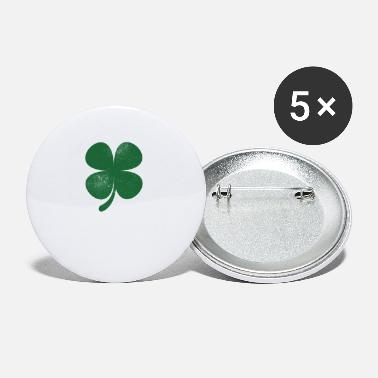 Patrick Distressed Green Four Leaf Clover Saint Patricks - Small Buttons