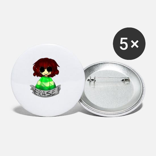 Undertale Buttons - chara undertale erase - Small Buttons white