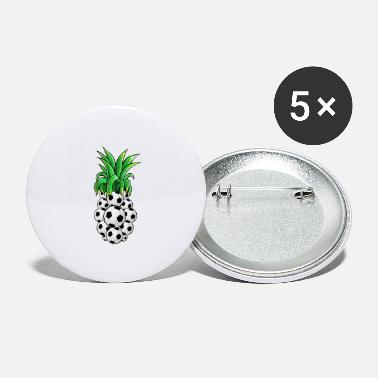 Pineapple And Soccer Soccer ball Pineapple - Small Buttons