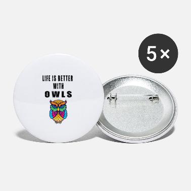 Owl Adorable Life Owl Lover Quotes - Small Buttons