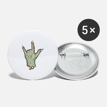Candy Zombie Devil Horns Undead Severed Hand Halloween T - Small Buttons