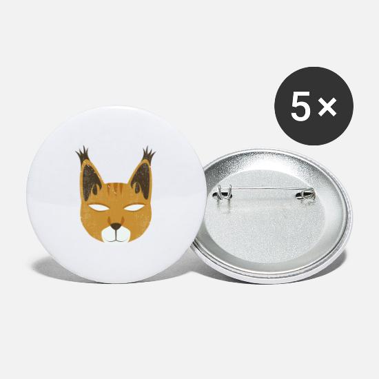 Anime Buttons - Jungle Animal Wild Cat - Small Buttons white