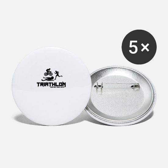 Triathlon Buttons - Triathlon - Small Buttons white