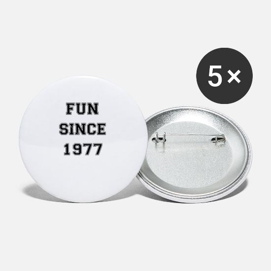 New Buttons - Fun since 1977 - Small Buttons white