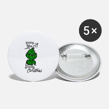 Market Grinchy Christmas Design - Small Buttons