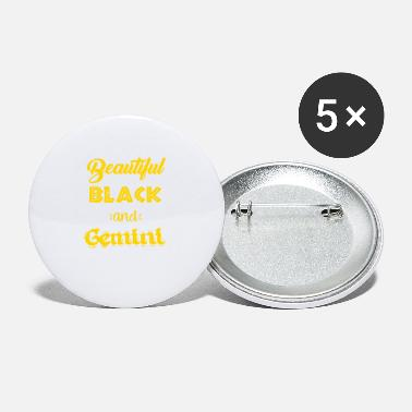 Gemini Man Beautiful Black & Gemini - Small Buttons