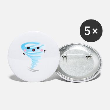 Cute Tornado Kawaii Tornado - Small Buttons