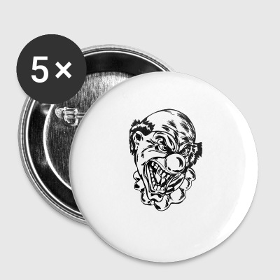 EVIL_CLOWN_33_black - Small Buttons