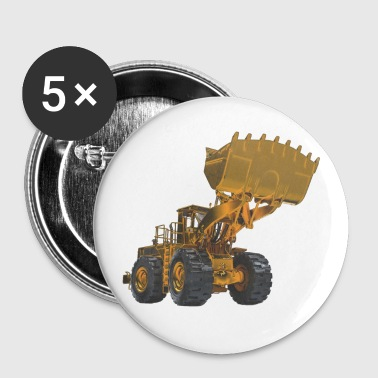 Old Mining Wheel Loader - Yellow - Small Buttons