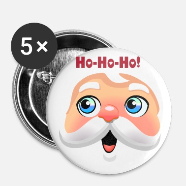 Cute Santa Face - Small Buttons