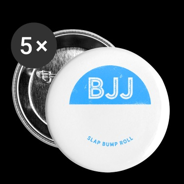 Jiu Jitsu Design BJJ Slap Bump Roll Blue Light - Small Buttons
